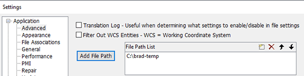 missing parts - edit the file path list