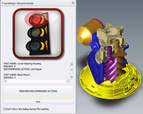 Diagnostic Tools for CAD - auto repair wizard and model in transmagic