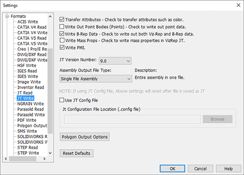 transmagic settings for JT write