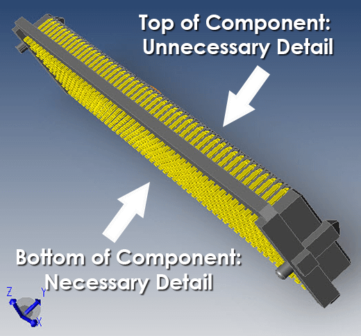This component has more detail than is needed in our application