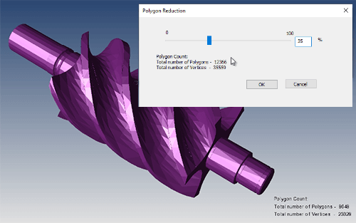 The Polygon Reduction tool makes it fast and intuitive to reduce polygons.