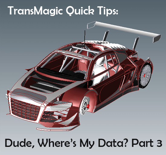 Dude, Where's My CAD Data Part 3 - how to deal with missing CAD data