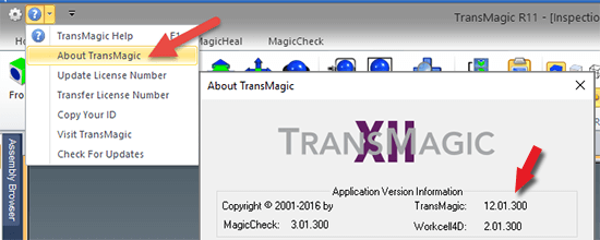 The TransMagic About screen can tell you what exact version you have installed.