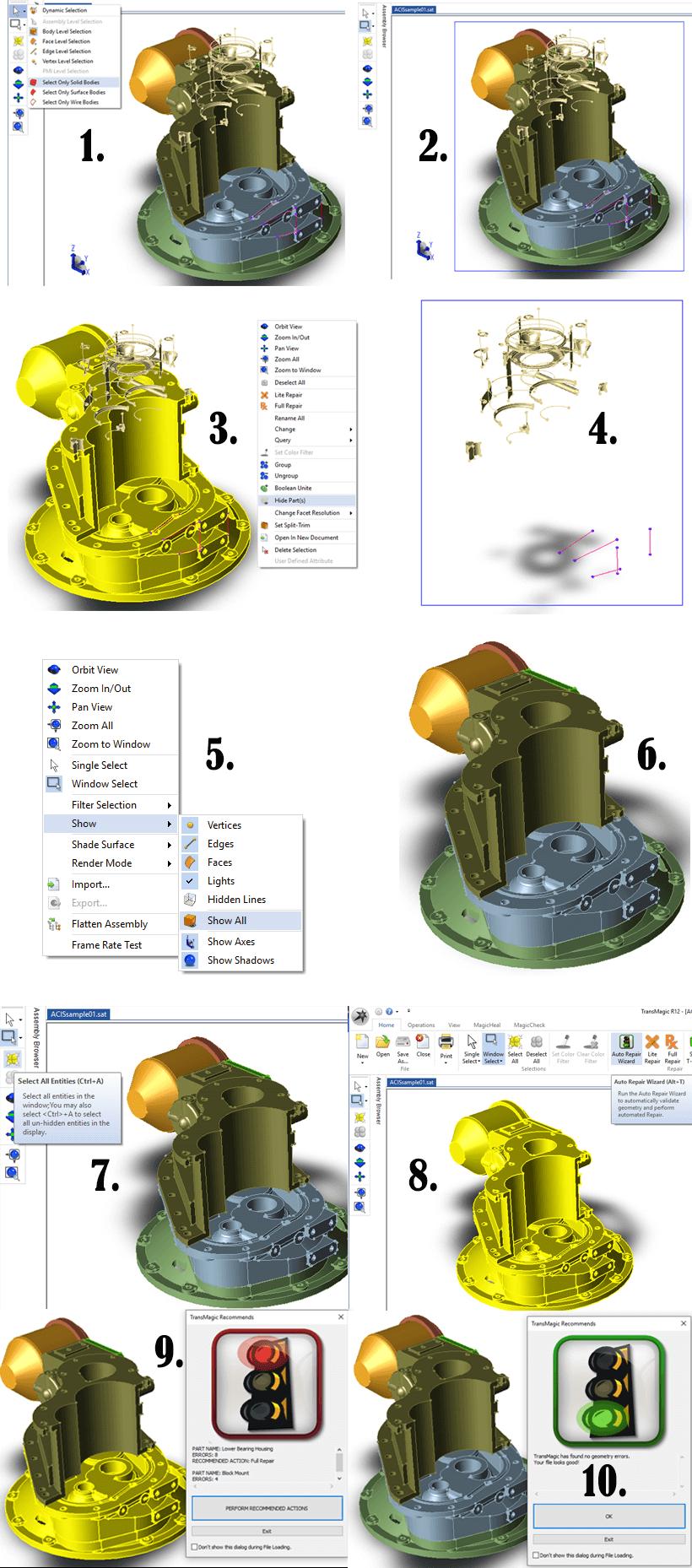 TransMagic Classic CAD Repair Scenario