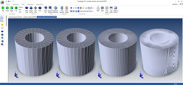 CAD Facet Resolution Options