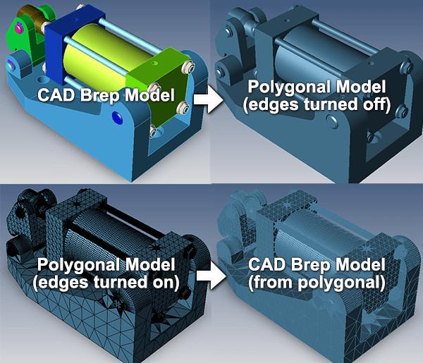 Can I convert polygonal models to CAD models?