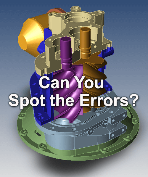 Can you find the errors in this cad model?