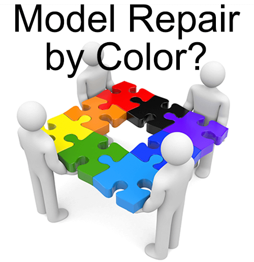 model repair by color