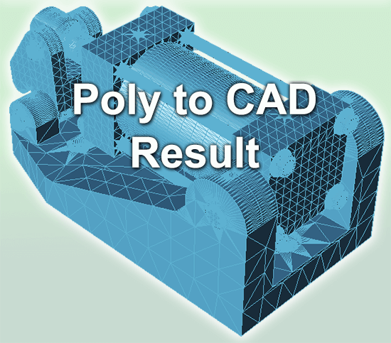 Poly to CAD Result