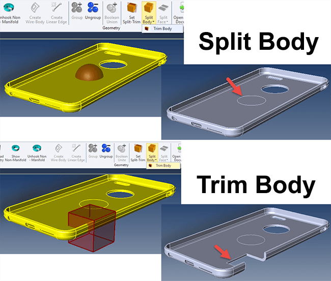 Split Body and Trim Body