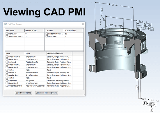 viewing CAD PMI