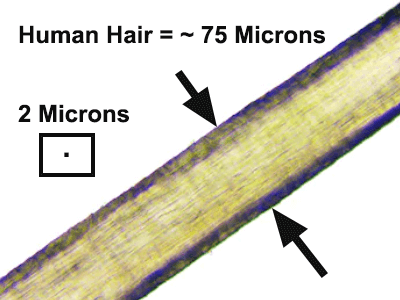 How big is 2 microns