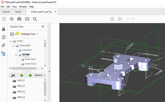 3d pdf with PMI