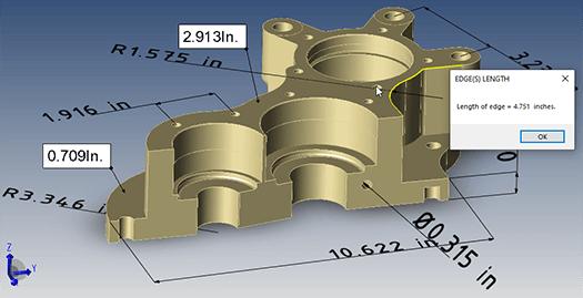 dimension measure and calculate