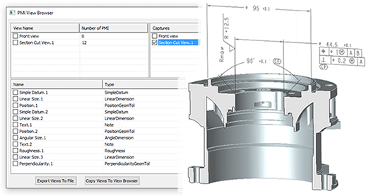 cad-viewer-view and manage PMI