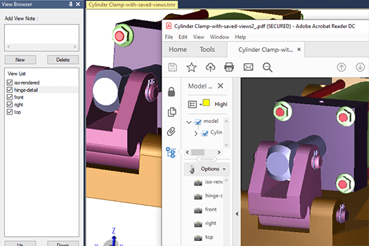 cad-viewer-Create and save views