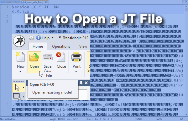 how to open jt files