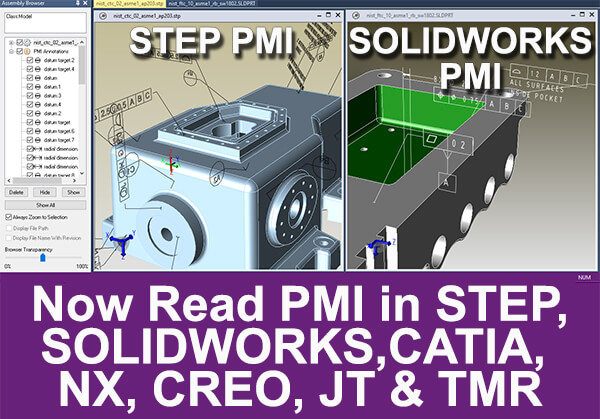 pmi read for solidworks and step