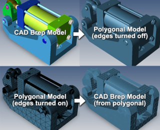 Can I convert polygonal models to CAD models?