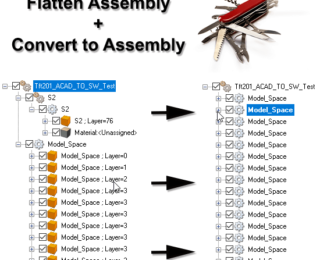 Flatten Assembly and Convert to Assembly